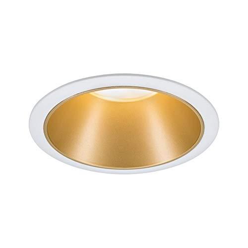 Paulmann 93405 Cole - Foco led empotrable (redondo, incluye 1 bombilla de 6,5 W, intensidad regulable, color blanco, dorado mate, plástico, aluminio y zinc, 2700 K)
