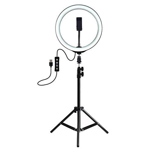 TIREOW Selfie Enhancing Licht Ringlicht 7,6 Zoll mit Stativ Ständer USB 3 Modi LED-Licht für Live-Stream Webcast Fotografie
