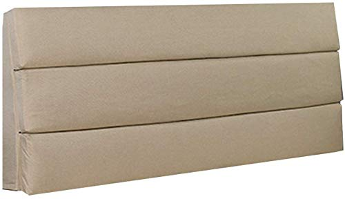 YLCJ Kussen/hoofdeinde kussen voor dubbel bed voor rugleuning Stijve koffer Groot bed Bescherm het kussen voor het lezen van de nek en rug Beige (Afmetingen: 150 60-6 cm6)