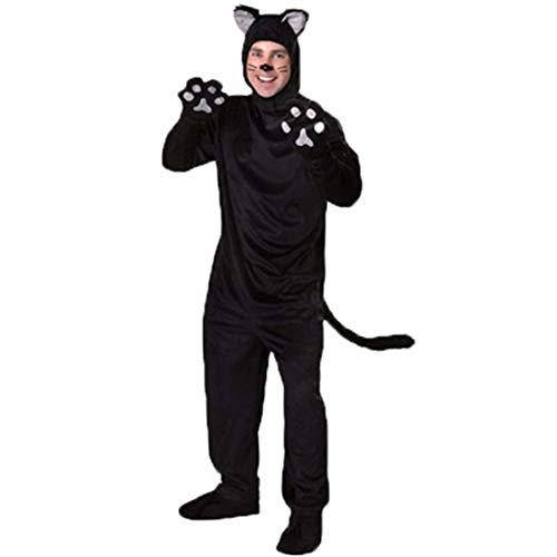 QWER Männlich Weiblich Rollenspiele Paar Black Bear Katzen Männer Anime Cosplay Halloween-Kostüme für Frauen S Fantasia,A,XL