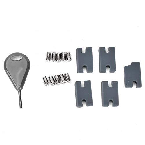 XinXinFeiEr Kit de relleno de aletas para tabla de surf resistente y duradero, compatible con aletas de tabla de surf con tornillos de goma para deportes (color: negro)