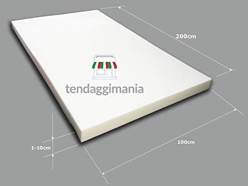 TENDAGGIMANIA Gommapiuma Alta densità 30 per Divano lastra 200x100 Poliuretano espanso Spugna Imbottitura Vari SPESSORI (Spessore 5 CM)