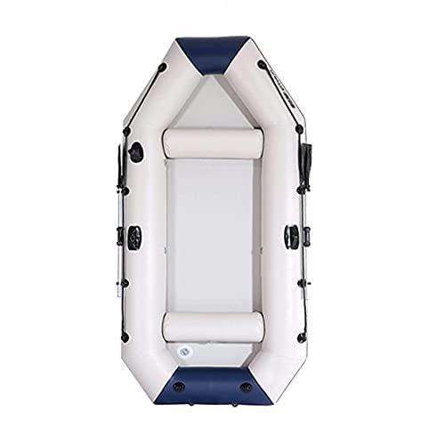 KUANDARMX Balsa Inflable para Bote De Kayak, Bote Inflable, Kayaks De Travesía con Hélice De Aleación De Aluminio, Balsa De Pesca para Amantes De La Pesca O Los Deportes Al Aire Libre