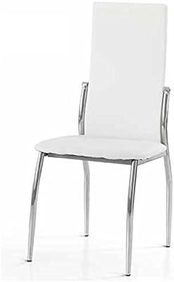 MONTEFIORE DESIGN montefioredesign – Set 4 Sillas en Piel sintética Color Blanco Francis