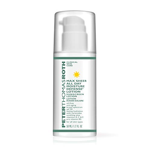 Max Sheer All Day Moisture Defense Lotion (SPF 30), Ultra-Light, Anti-Aging Sunscreen for UVA/UVB Protection with Moisturizers and Antioxidants