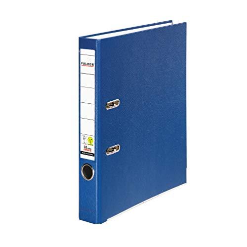 Original Falken PP-Color Kunststoff-Ordner. Made in Germany. 5 cm schmal DIN A4 blau Ringordner Vegan Aktenordner Briefordner Büroordner Plastikordner Schlitzordner