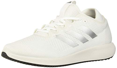 adidas Women's Edge Flex Running Shoe, White/Silver Metallic/Crystal White, 10.5 M US