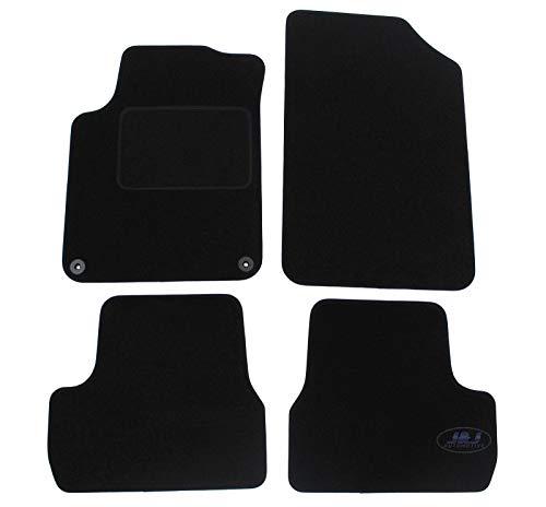 J&J AUTOMOTIVE   Tapis de Sol Noir Velours Compatible avec Citroen C3 C-3 II 2009-2015 4 pcs