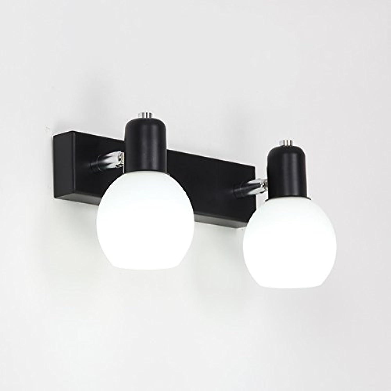 GXIAO Spiegelleuchten Spiegellicht Eisen + Glas LED Zwei Arten von Licht Wasserdicht Badezimmer Toilette 32cm 49cm Sicherheit Energiesparen (Farbe   Weies Licht, Gre   32cm)