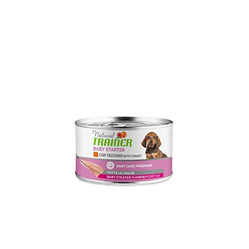 Natural Trainer Cane - Baby Starter - Alimento Umido - Multipack - 10 x 140 gr - Tacchino