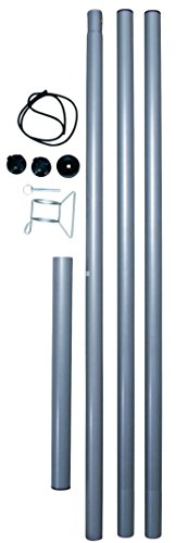 Sonnensegel Stahlmast-Set 2,5m hoch, 5tlg. Mast Segel