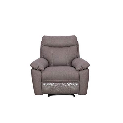 Sillón Relax Manual, Sillon reclinable con reposapies Fabricado en Tela Modelo Malaga en Color Gris