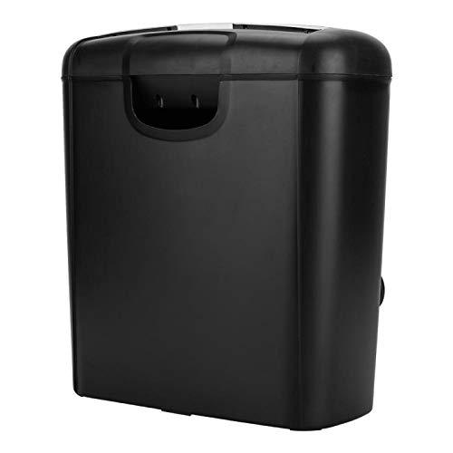 Trituradora eléctrica de Oficina en el hogar para Papel y Tarjeta de crédito Corte en Tiras Destroy Papelera Grande de 10 l para Uso en la Oficina en el hogar, Color Negro