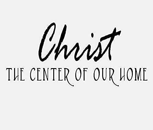 Adhesivo decorativo para pared, diseño de Cristo el centro de nuestra casa, con cita inspiradora, PVC, dormitorio, niño, decoración del hogar, 73 x 33 cm