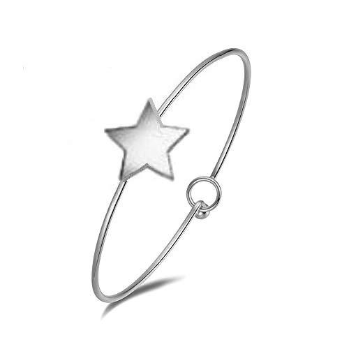 Emma gioielli–pulsera para mujer Rígida de acero de alta calidad Estrella Moda Amor Love–Pack de regalo