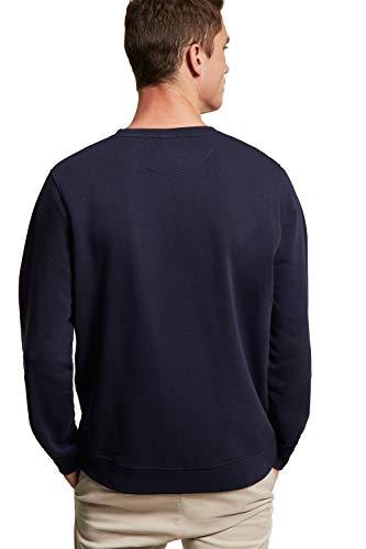 POLO CLUB Sudadera Orgánica Color Azul Marino con Cuello Redondo para Hombre