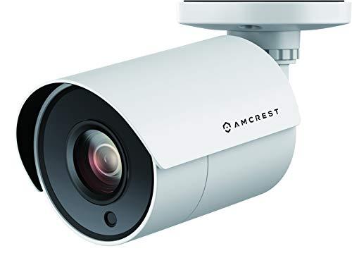 Amcrest UltraHD 4K Bullet Outdoor Sicherheitskamera, 4K (8 Megapixel), analoge Kamera, 30,5 m Nachtsicht, robustes Gehäuse, 3,6 mm Objektiv, 87° Weitwinkel, weiß (AMC4KBC36P-W)