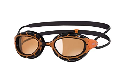 Zoggs Predator Polarized Ultra Schwimmbrille, Orange/Black/Copper, OneSize
