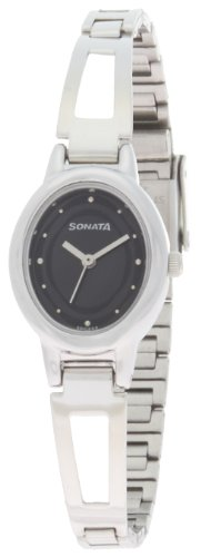 Sonata Everyday Analog Black Dial Women's Watch -NK8085SM01