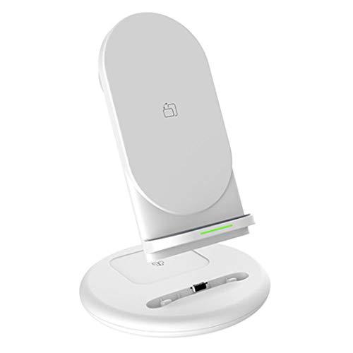 Chnrong Cargador inalámbrico, plegable 3 en 1 tres puertos USB estación de carga rápida para Air Pods/Apple Watch Se/6/5/4/3/2/1, soporte de carga para PC, teléfono, portátil, auriculares, Samsung