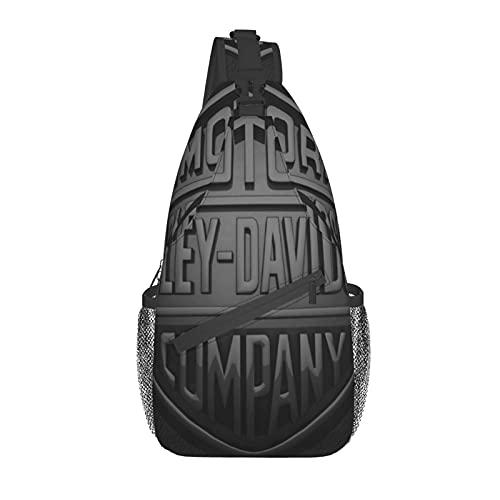 Sling Crossbody Rucksack, Harley_Davidson Anti-Diebstahl Herren Brusttasche Casual Schultertasche