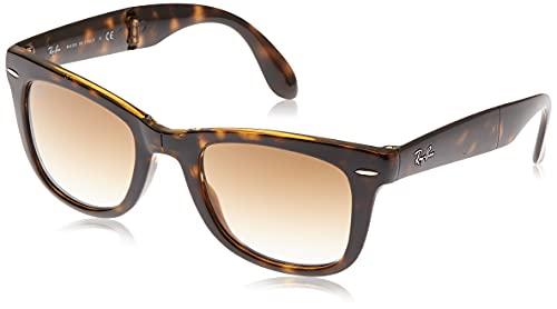 Ray Ban Unisex Sonnenbrille Wayfarer Folding Classic, Braun (Gestell: Havana, Gläser: Hellbraun Verlauf 710/51), 54 mm
