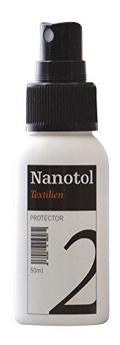 Imprägnierspray Schuhe - Wasser abweisende Imprägnierung - Schuhpflege für Lederschuhe, Wildleder, Stoffschuhe - Nanotol Textilien Protector - (50 ml)