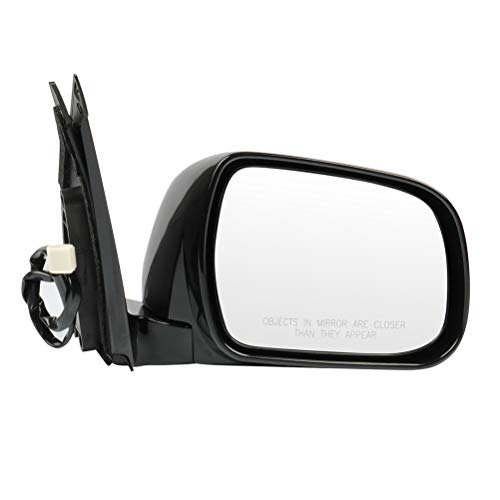 FINDAUTO 1 PCS Side View Mirror Power Adjustment Right Side Mirror Fits for 2004-2009 L-exus RX330 RX350 RX400H Heated Manual Folding BLACK SMOOTH
