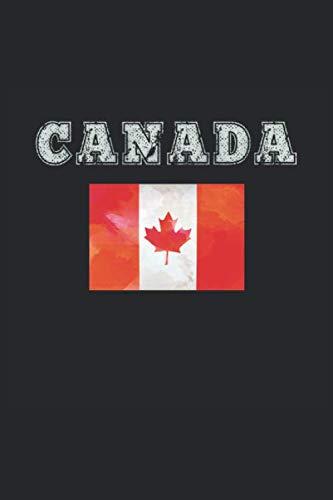 Kanada Notizbuch: Kanada Geschenk Notizbuch Tagebuch Planer Notizblock 120 linierte Seiten 6x9 Zoll (ca. DIN A5) Geschenkidee