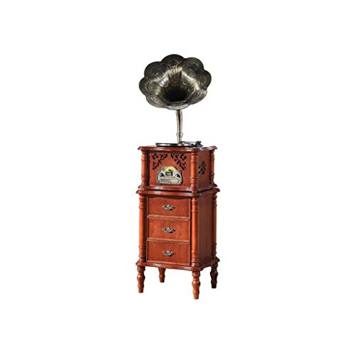 Great Price! GOM Vinyl Record Player Stand and Storage, Built-in Stereo Speakers 33/45/78 RPM 3-Spee...