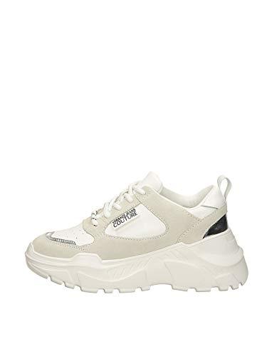 Versace Jeans Couture Mujer Zapatillas Bianco 37 Eu