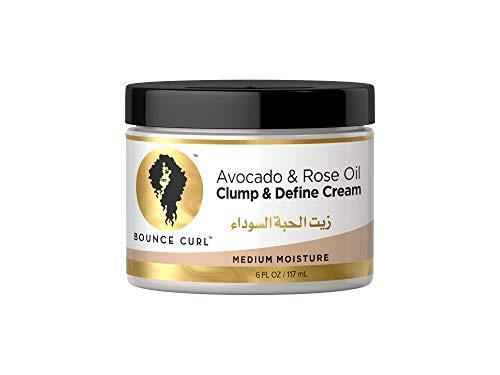 Bounce Curl Avocado & Rose Oil Clump & Define Cream   Curly Hair Moisturising Leave-in Define Cream   177ml