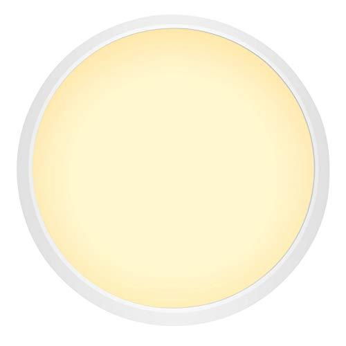 36W LED Techo Luz del techo Panel redondo, cálidos proyectores de techo blanco ultrafino impermeable IP44, techo empotrado de ángulo de haz de 180 para dormitorio de baño interior Oficina,36W
