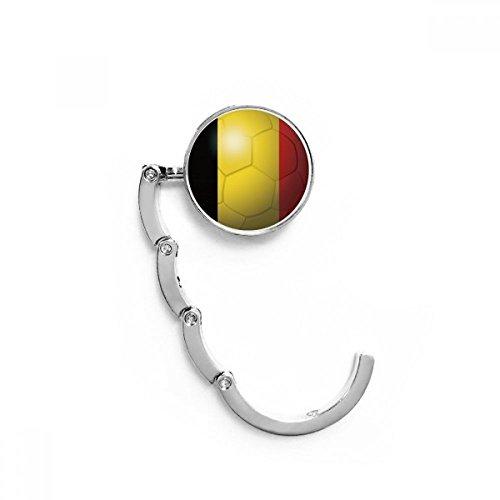 DIYthinker Bélgica Bandera Nacional de fútbol Copa Mundial de la Tabla Gancho Plegable del Bolso de Colgar Titular Escritorio Plegable