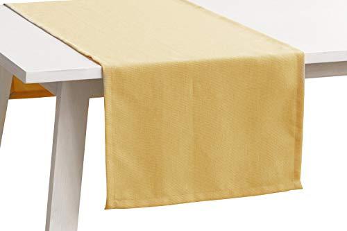 Pichler Tischwäsche Serie 'Panama', Gold, Größe:Tischdecke 150 x 250 cm