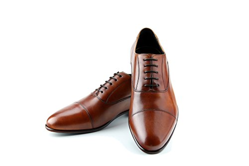 Prime Shoes Flexible Cliff Schnürschuh Braun Crust Cuoio aus feinstem Kalbsleder Sacchetto 9