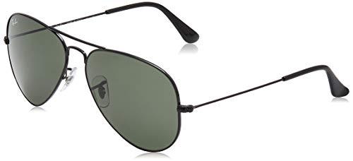 RB3025 Aviator Classic Sunglasses, Black/Green, 58 mm