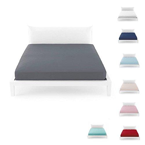 Bassetti Time - Sábana bajera para cama individual 90 x 200 - glicina