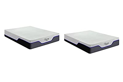 DynastyMattress New! CoolBreeze2-FIRM Cooling Gel Memory Foam Mattress-Split King