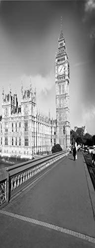Vinilos para Puertas Autoadhesiva Extraíble Impermeable Papel Pintado Póster Decorativas de pegatinas puertas para Cuarto y Baño 77x200cm - Big Ben Londres