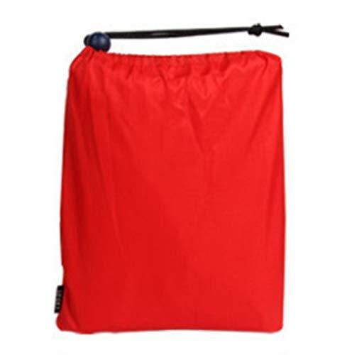 Hermoso impermeable 3 en 1 al aire libre impermeable impermeable impermeable impermeable impermeable impermeable para hombres mujeres toldo de la lluvia moto poncho picnic Mat (color: rojo)
