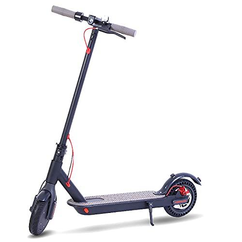 MKKYDFDJ Peso Ligero Portátil Plegable E-Scooter,Patinete Eléctrico con Faro LYD,Velocidad Máxima 30km/H,Urban...