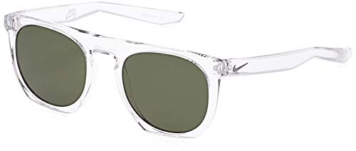 Nike EV0923-903 Flatspot Sunglasses (Frame Green Lens), Crystal Clear/Wolf Grey