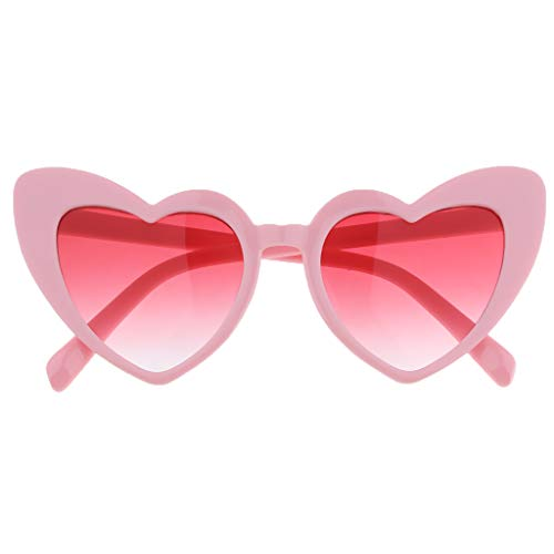 Baoblaze Herz Sonnenbrille Dünne Schöne Herzbrille für Damen - Rosa, wie beschrieben