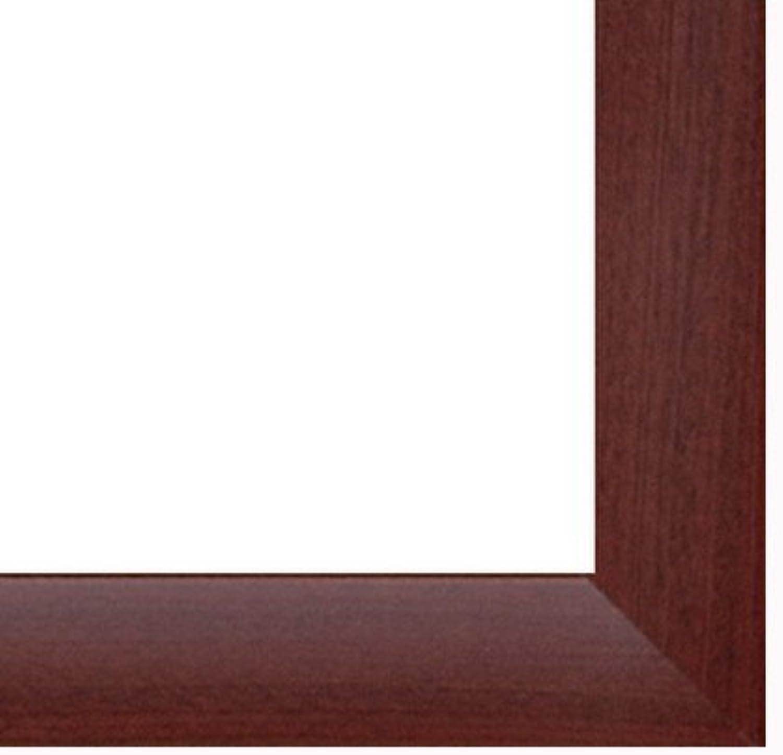 Marco Colorado 60 x 53 cm en MDF, marco en estilo moderno 53 x 60 cm, Color seleccionado  caoba con vidrio acrílico antirreflector 1 mm