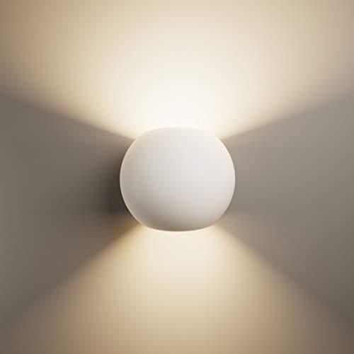 LightHUB oben unten innen Gips Wandleuchte Gipsleuchte modernes G9 wandlampen wandleuchte dekoration (Bereit für LED) weiß - Perfekt für schlafzimmer, küchen, büro, Badezimmer, flurbeleuchtung …