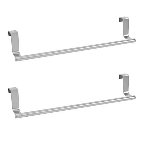 OFNMY Handtuchhalter Edelstahl Towel Holder Küchenschrank Geschirrtuchhalter zum Einhängen(2 Stück)