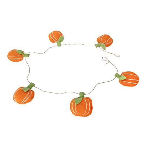 De Kulture Handmade Felt Pumpkin Garland (48 inches Long) for Halloween Decoration Home Decoration Party Decoration