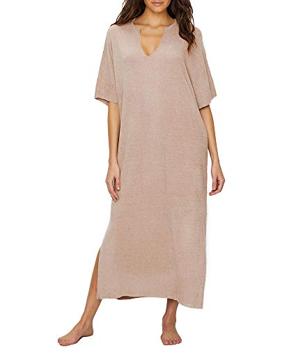 Barefoot Dreams Women's Cozychic Ultra Lite Caftan Dress, -faded rose, One Size