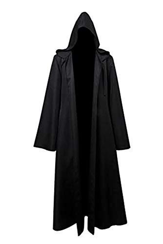 Fuman Jedi Robe Deluxe Cosplay Kostüm (XXL, Schwarz)